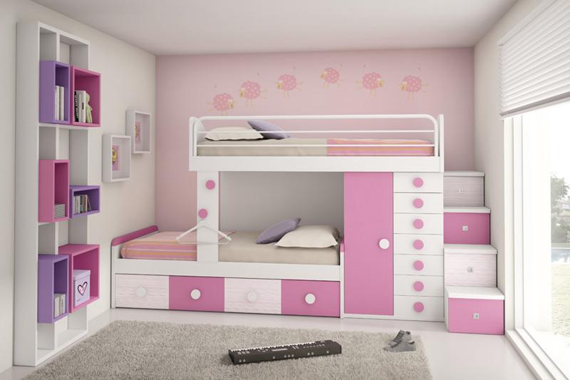 Dormitorios juveniles camas tren muebles ib ez tienda for Dormitorios 2 camas muebles
