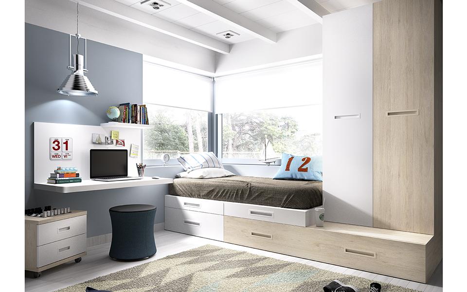 Dormitorios juveniles compactos muebles ib ez tienda for Muebles torre pacheco