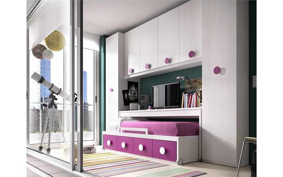 Dormitorios juveniles compactos muebles ib ez tienda - Muebles compactos juveniles ...
