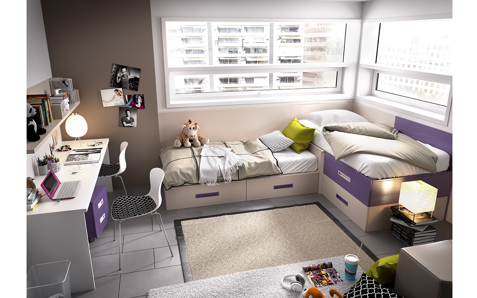 Dormitorios Juveniles Nidos Muebles Ib Ez Tienda De Muebles  ~ Decoraciones Para Habitaciones Juveniles
