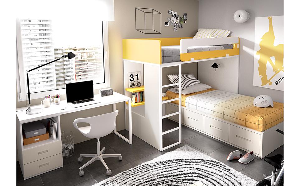 Dormitorios juveniles literas y blocks muebles ib ez - Dormitorios juveniles murcia ...