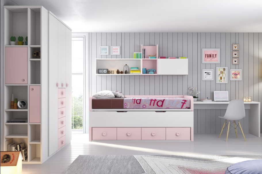 Dormitorios juveniles compactos muebles ib ez tienda for Compactos juveniles