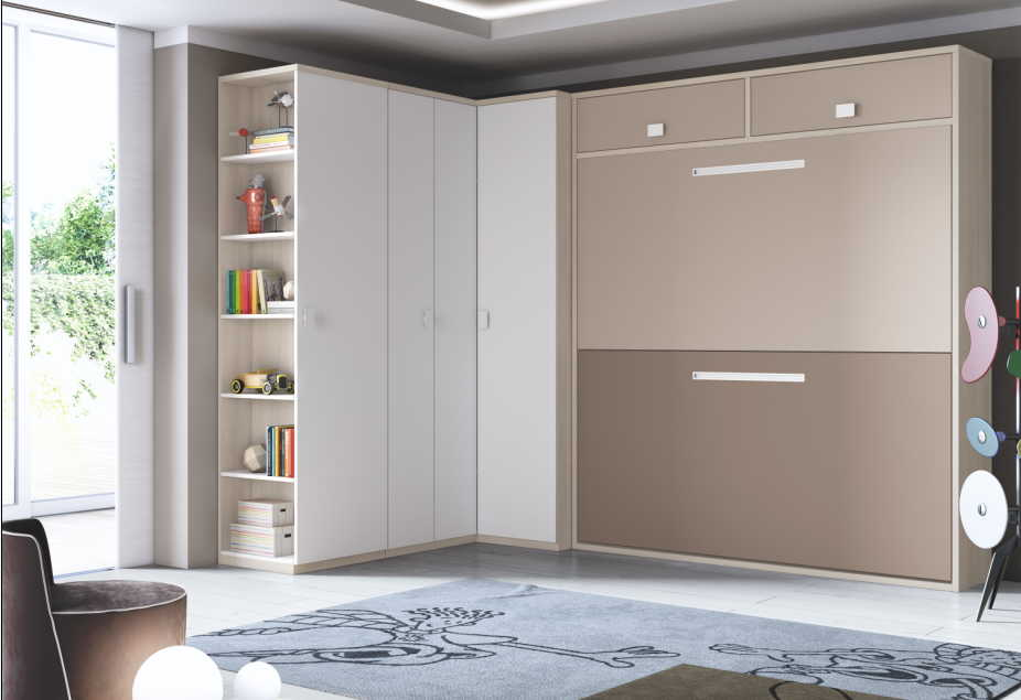 Dormitorios juveniles camas abatibles muebles ib ez for Habitaciones juveniles abatibles