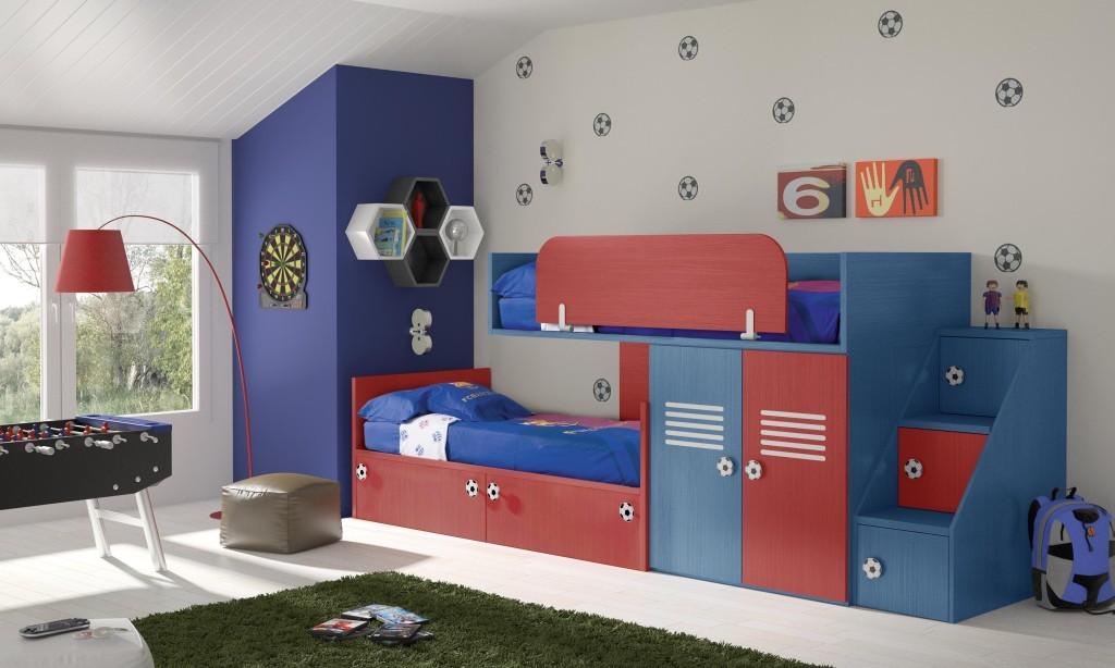 Dormitorios juveniles camas tren muebles ib ez tienda for Dormitorios cama 1 05