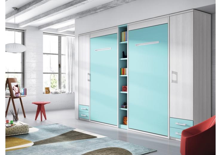 Dormitorios juveniles camas abatibles muebles ib ez - Camas plegables verticales ...