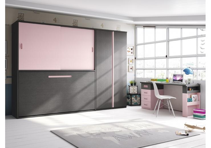 Dormitorios juveniles camas abatibles muebles ib ez - Habitaciones juveniles camas abatibles horizontales ...